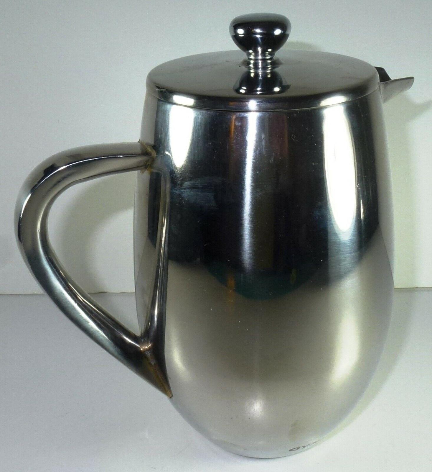 *NWOB* Press Stainless Steel Coffee Maker 34