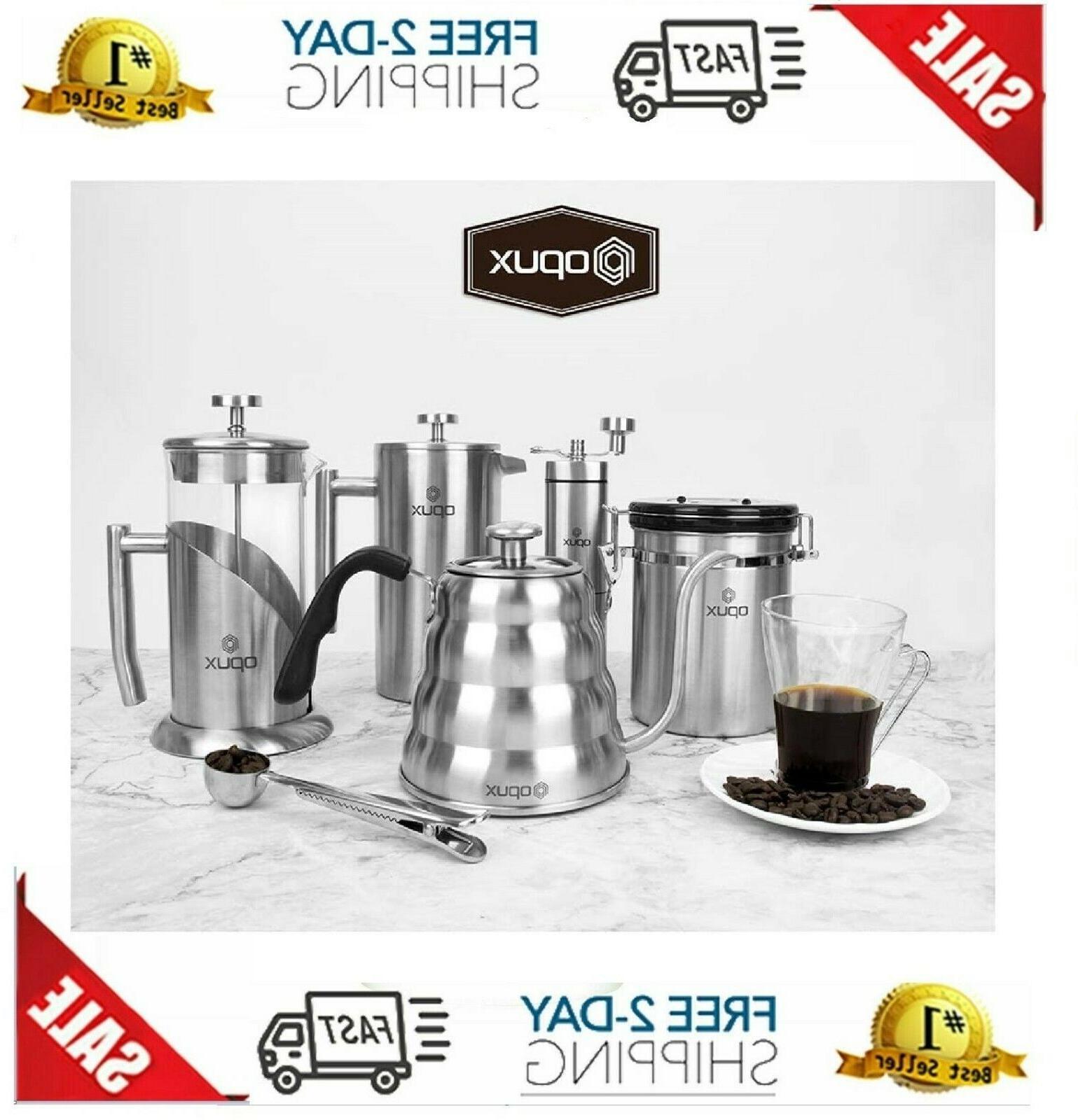 OPUX Coffee Maker Steel Press Po
