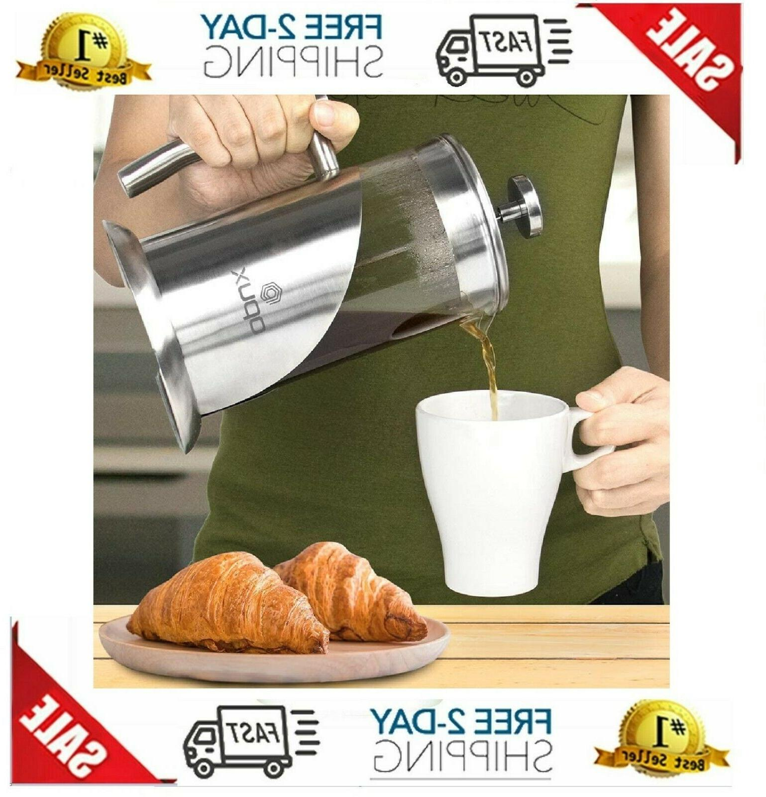 OPUX Insulated French Press Steel Cup Press Po
