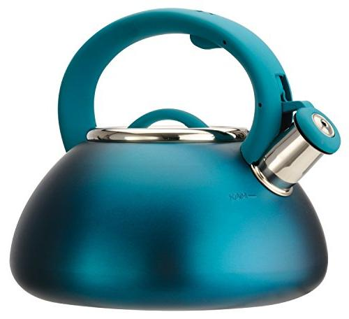 Primula Pavte-6225 2-1/2 Qt Stainless Steel Matte Teal Avalo
