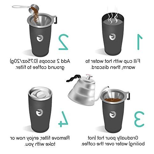 Coffee Pour Over Coffee Maker in Paperless Brewer