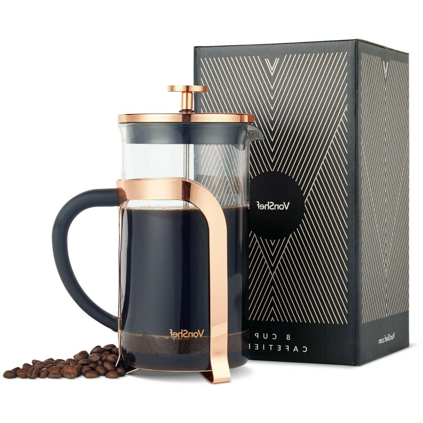 premium glass heat resistant french press cafetiere