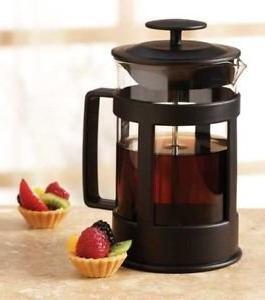 sierra black glass coffee press