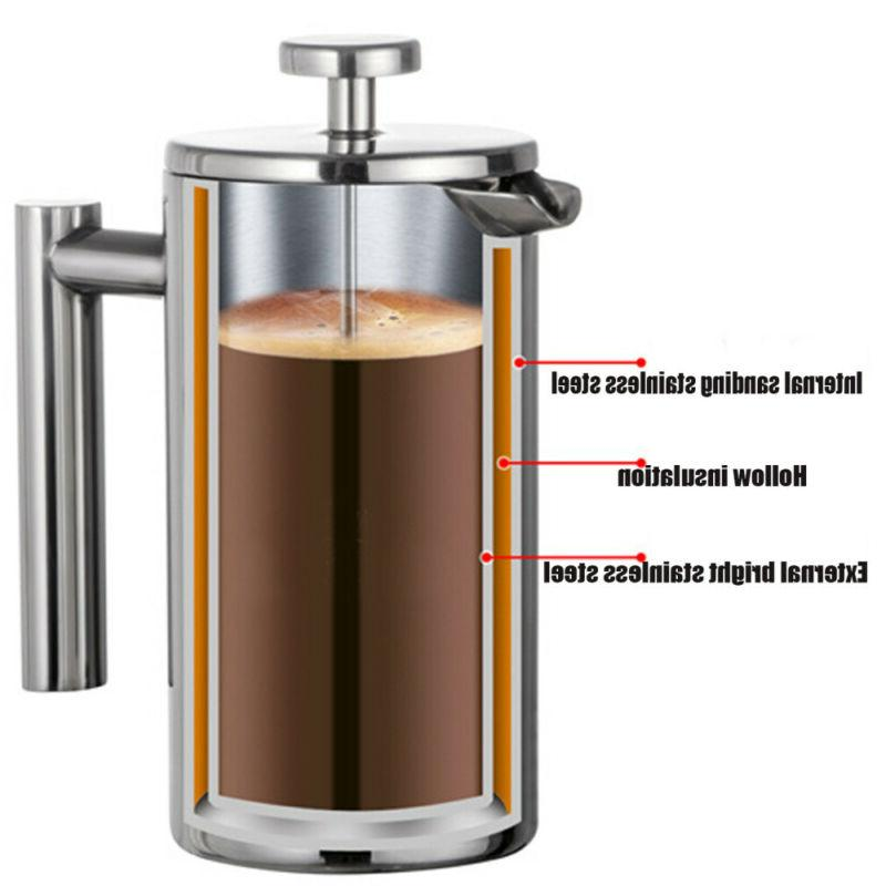 Stainless French Press Coffee Walled Utopia