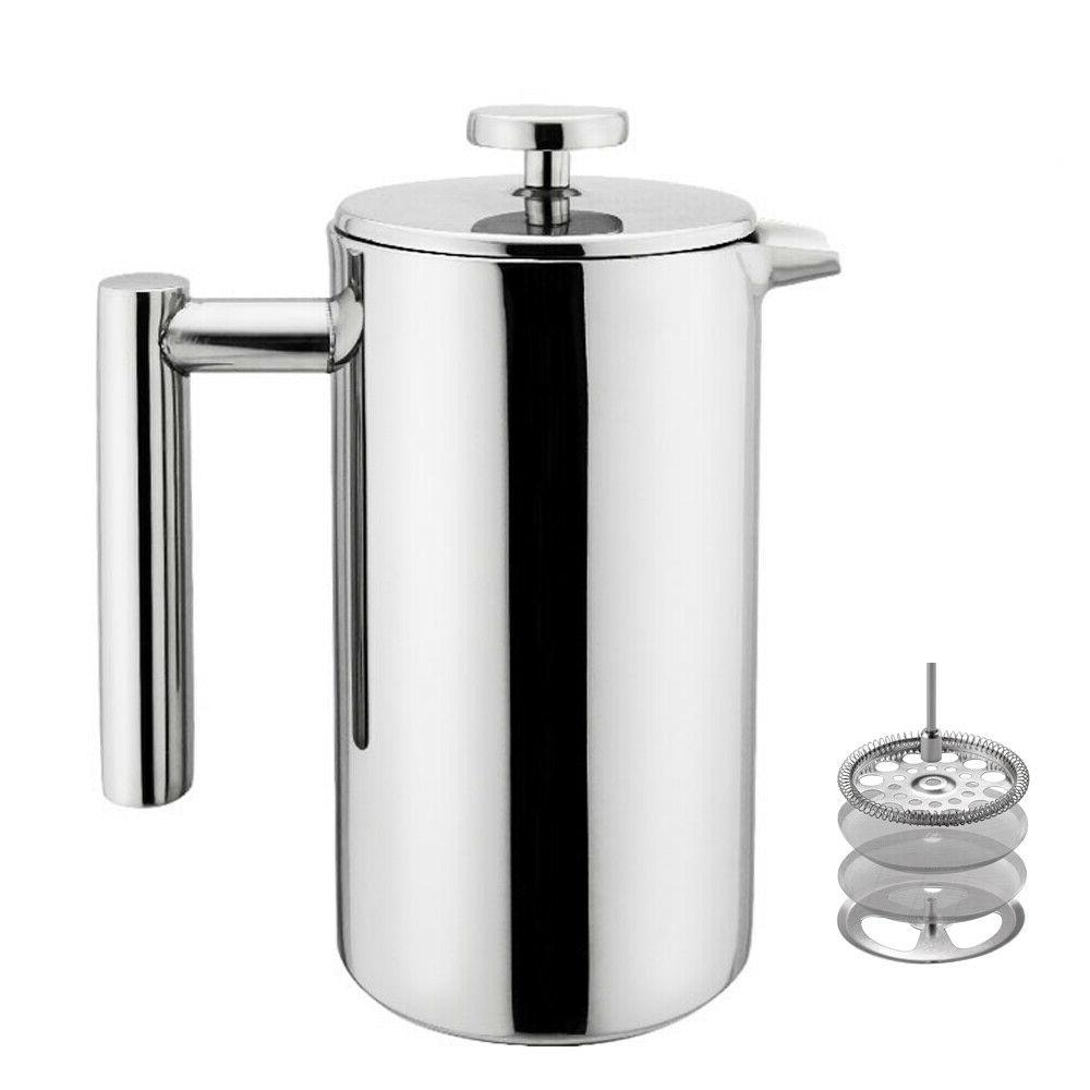 Small Stainless Steel Press Pot Tea Brewer Cafe