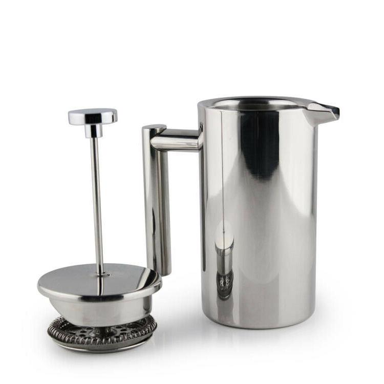 Small Stainless Steel Press 12oz Plunger Pot Cafe