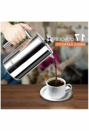 SECURA Stainless French Press