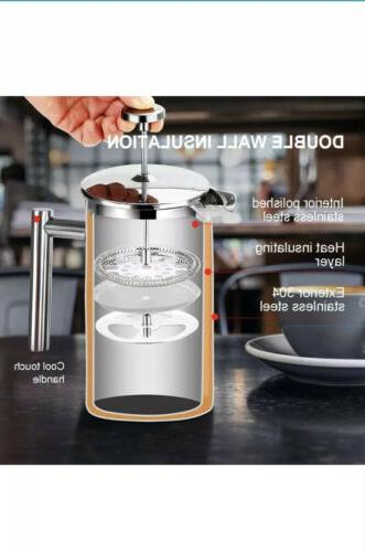 SECURA Stainless French Press Coffee