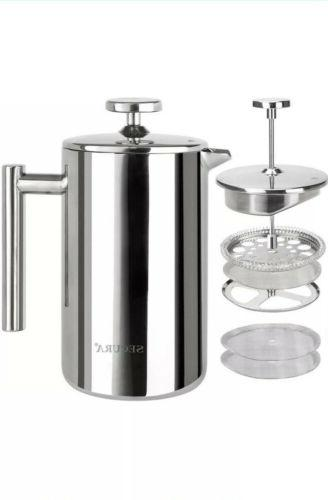 stainless steel 304 french press coffee maker
