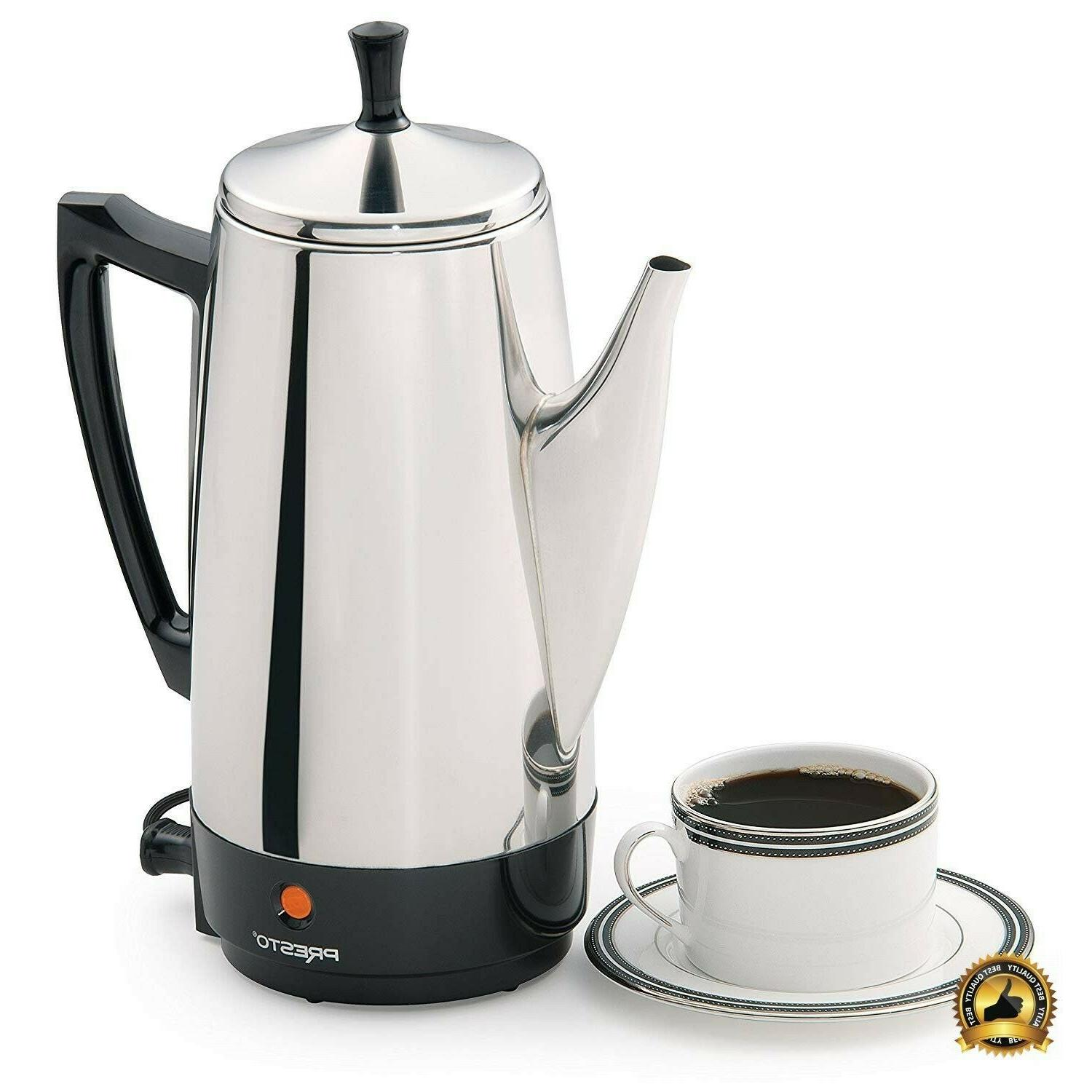 Stainless Steel Coffee Maker Server Large Press 12 Cup Thermal Tea
