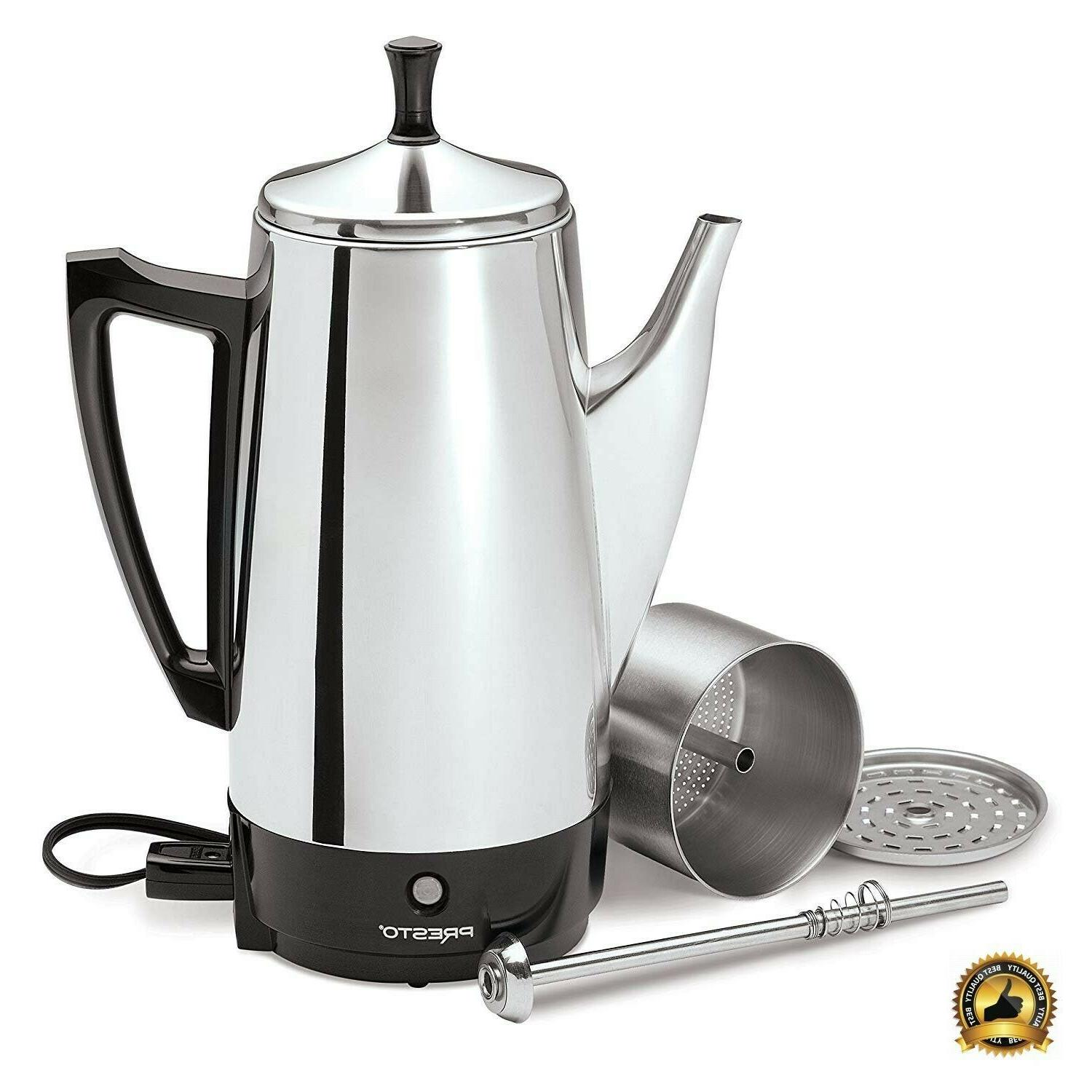 stainless steel coffee maker server large french