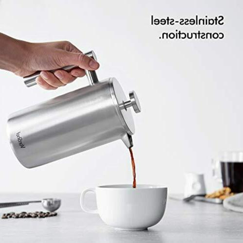 Stainless French Cafetiere Coffee 28 oz.