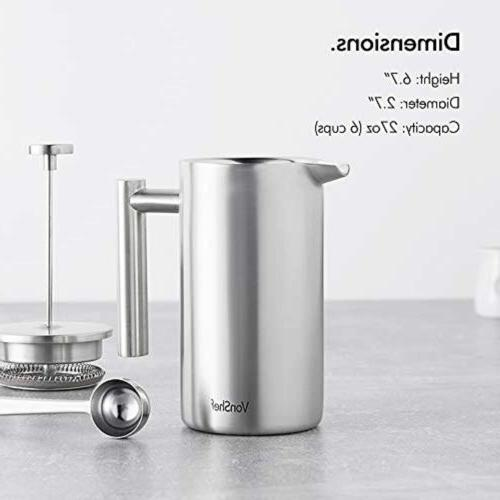 Stainless Steel Cafetiere Coffee 28