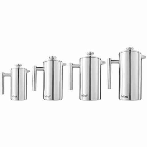 Stainless French Press Cafetiere 28 oz.