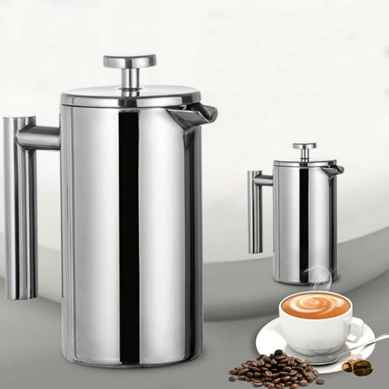 Stainless Insulated Press Coffee Walled