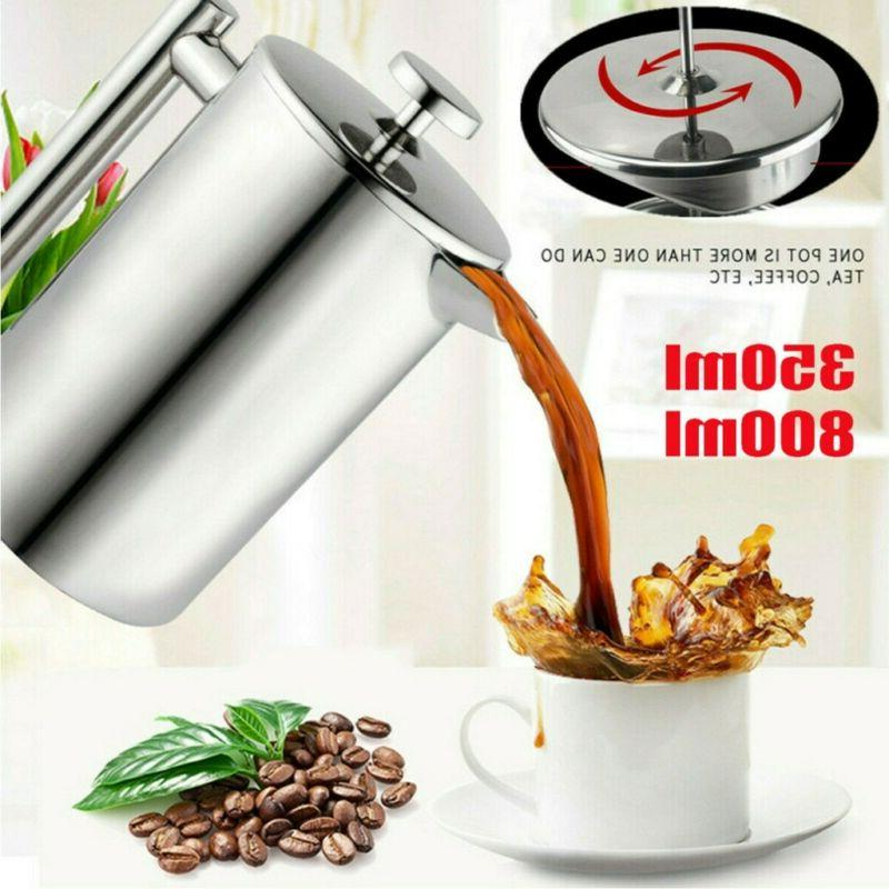 stainless steel insulated french press coffee maker