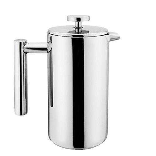 stainless steel press coffee plunger