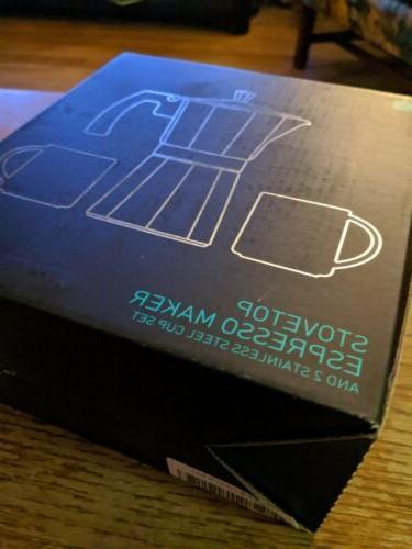 Coffee Gator Stovetop Personal Espresso Cup Set