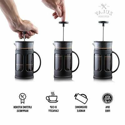 Zulay Premium French Press Coffee Pot Milk Frother