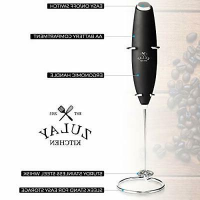Zulay Press Coffee Milk Frother Set