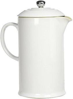 Le Creuset Stoneware 27Ounce French Press White