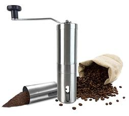 Manual Coffee Grinder with Ceramic Burr Hand Coffee Burr Han