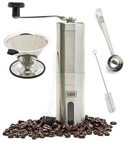 Venoly Conical Burr Coffee Grinder Stainless Steel Hand Cran
