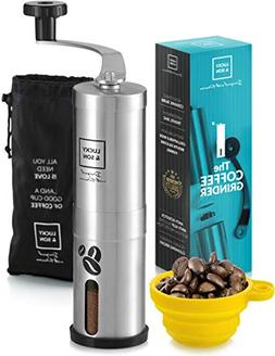 LUCKY & SON Manual Coffee Grinder Hand Crank Conical Coffee