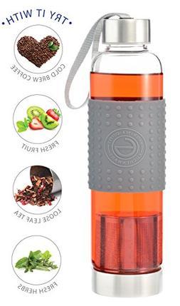 GROSCHE Marino 550ml/18.6oz Water and Tea Travel Infuser Gla