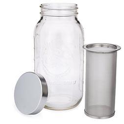 Mason Jar Cold Brew Coffee Maker & Iced Tea Maker | Half Gal
