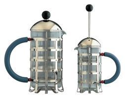 Alessi MGPF 3 Press Filter Coffee Maker, Graves Blue, Black