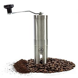 EZE Hand Burr Coffee Grinder Most Consistent Hand Press, Cer