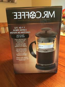 Mr. Coffee French Press Coffee Maker 1.1 quart NEW!