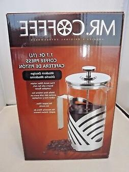 Mr. Coffee French Press Coffee Maker Grindhouse 1.1 Qt. 8 cu