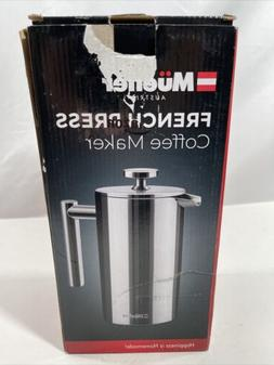 Mueller French Press Double Insulated 310 Stainless Steel Co