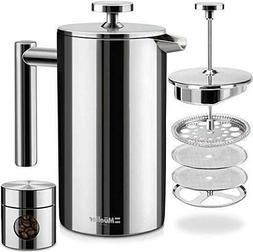 Mueller Stainless Steel French Press Coffee Brewer Maker Ins