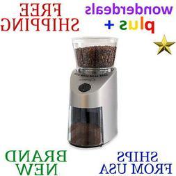 New CAPRESSO 4 oz. Infinity Conical BURR COFFEE GRINDER w Cl