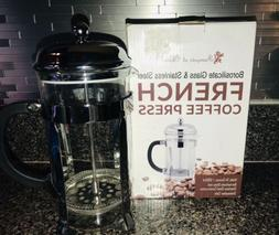 new borosilicate glass stainless steel french coffee