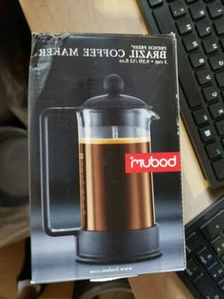NEW Bodum BRAZIL French Press 3 Cup 12 oz .35 L Coffee Maker