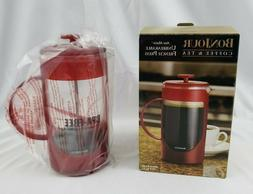 New Bonjour Coffe & Tea Unbreakable French Press Red 8 Cups