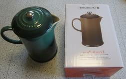 New in BoxLe Creuset Café Stoneware French Press Green 27
