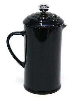 New Le Creuset Shiny Black 12oz Petite French Press Coffee P