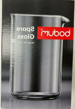 New Bodum Spare Glass Carafe 1.5 Liter 51 Oz Ounce 12 Cup Fr