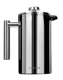 NEW Secura Stainless Steel French Press Coffee Maker