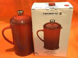 NIB LE CREUSET 12 Oz French Press Coffee Pot Stoneware Ceris