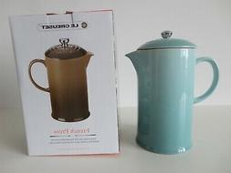 NIB LE CREUSET Sage Green Stoneware French Press Coffee Make