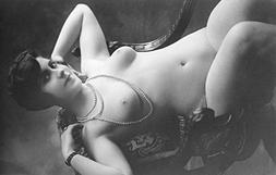 Nude Woman French Art Nouveau?Pearl Necklace Photograph #16