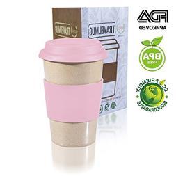 14oz 100% Organic Eco Friendly Reusable Travel Mug, ToGo Tak