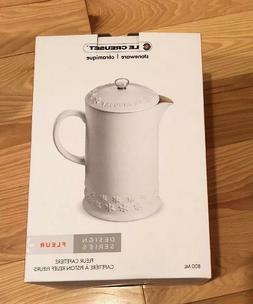 Original Le Creuset 27 Ounce French Press Coffee Maker / Cot