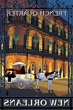 New Orleans, Louisiana - French Quarter at Night